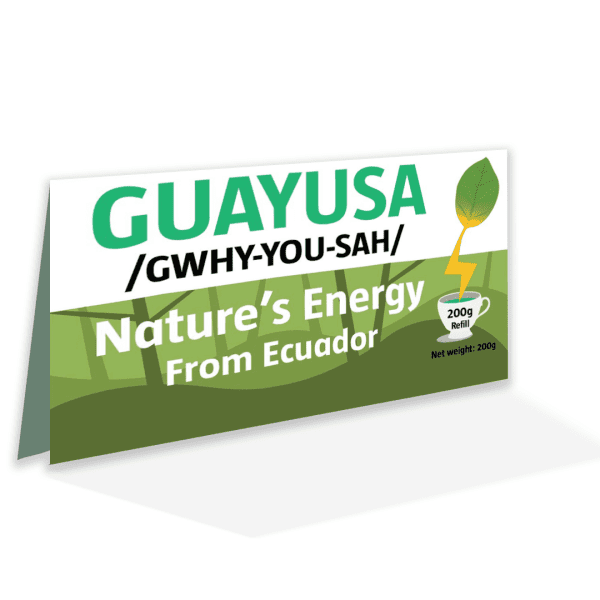 Guayusa loose leaf lable - front